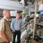 Палеонтология: Стеллажи с материалом